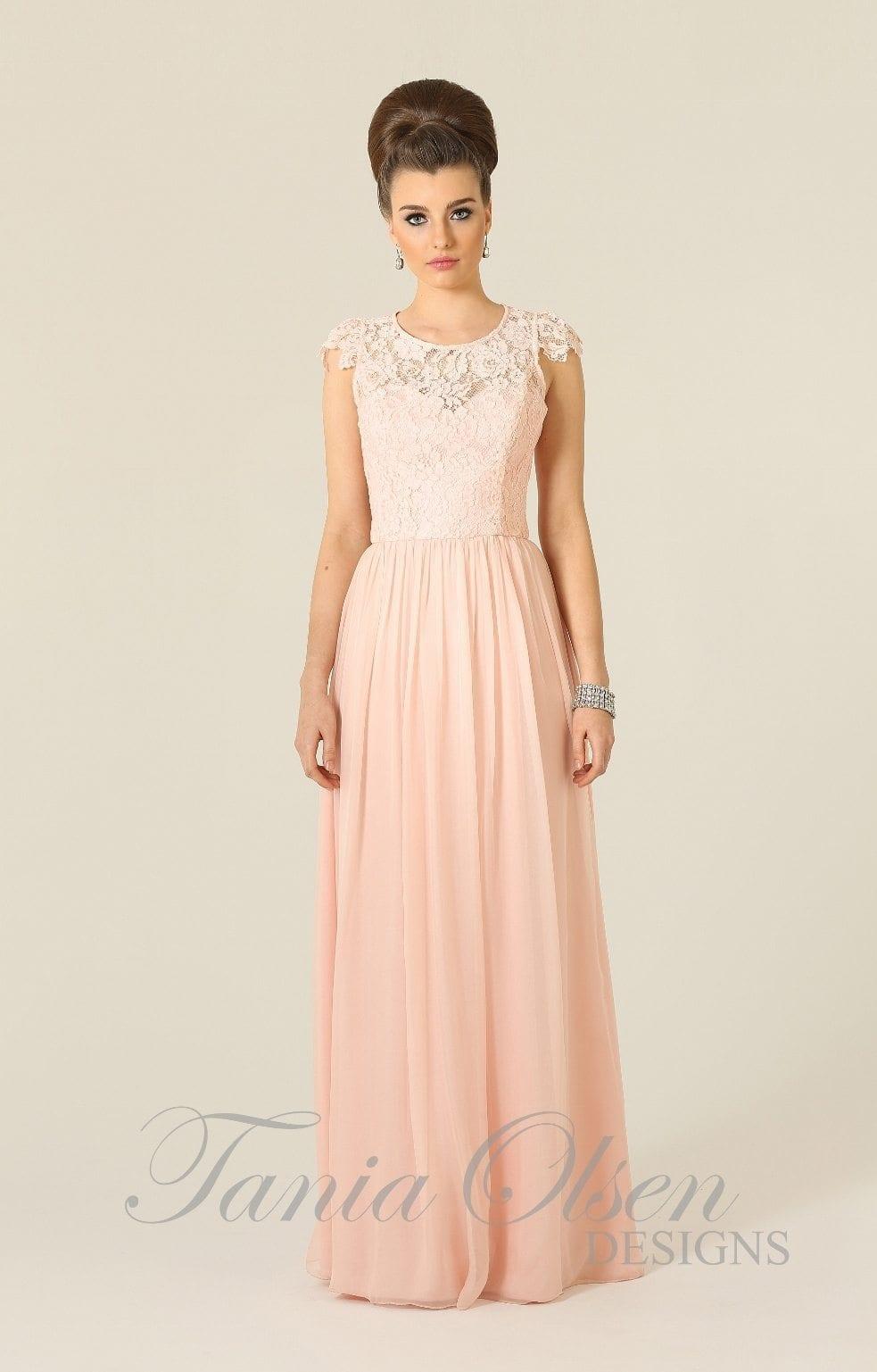 Bridesmaid dress tania olsen design latitia pink for Jessica designs international wedding dresses