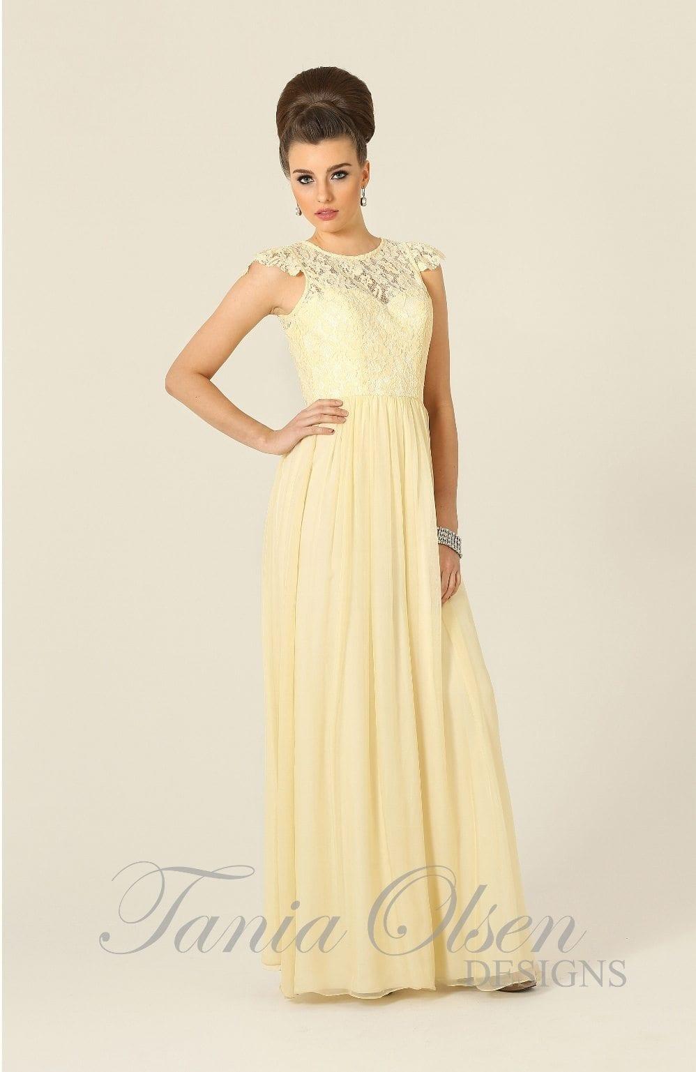 Latitia yellow jessica bridal for Jessica designs international wedding dresses