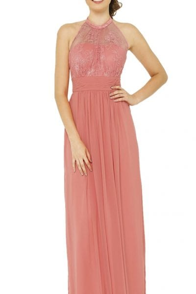 blush bridesmaid gown